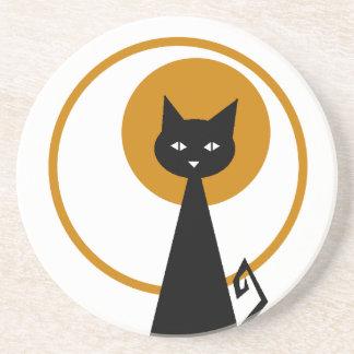 Posavasos De Arenisca Práctico de costa del gato negro