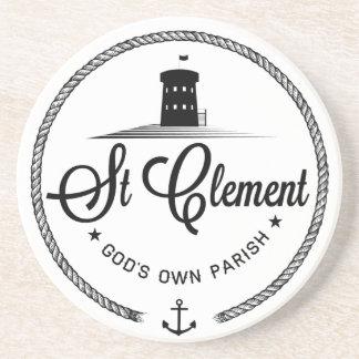 Posavasos De Arenisca Práctico de costa del jersey de St Clement
