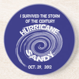 Posavasos De Arenisca Práctico de costa redondo de Sandy del huracán