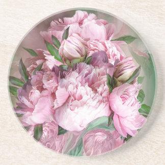 Posavasos De Arenisca Práctico de costa redondo del arte rosado del