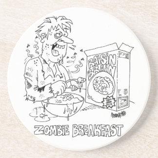 Posavasos De Arenisca Prácticos de costa del dibujo animado del zombi