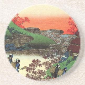 Posavasos De Arenisca Pueblo japonés
