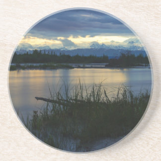 Posavasos De Arenisca Puesta del sol de la medianoche de Denali