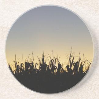 Posavasos De Arenisca Puesta del sol en la granja