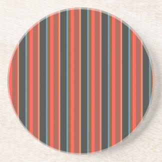 Posavasos De Arenisca Rayas/azul y moreno negros rojo marrón