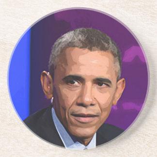 Posavasos De Arenisca Retrato abstracto de presidente Barack Obama 9