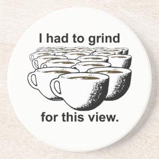Posavasos De Arenisca Rutina del café para esta visión