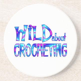 Posavasos De Arenisca Salvaje sobre Crocheting