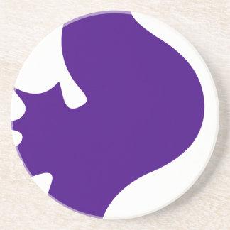 Posavasos De Arenisca Seahorse púrpura