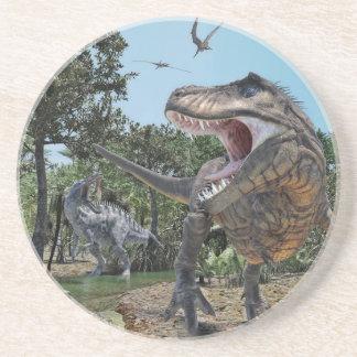 Posavasos De Arenisca Suchomimus y confrontación de Rex del