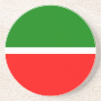 Posavasos De Arenisca Tartaristán señala por medio de una bandera