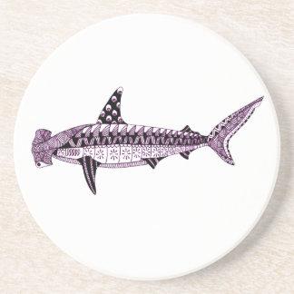 Posavasos De Arenisca Tiburón de Hammerhead