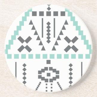 Posavasos De Arenisca Tótem de Boho, símbolo étnico, Hippie, Azteca,