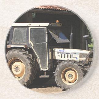 Posavasos De Arenisca Tractor gris, EL Camino, España