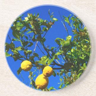 Posavasos De Arenisca Tres limones sicilianos