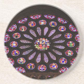 Posavasos De Arenisca Ventana de la catedral de León, EL Camino, España