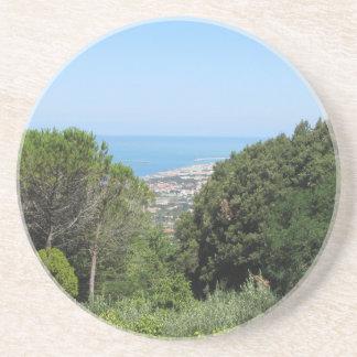 Posavasos De Arenisca Vista aérea panorámica de la ciudad de Livorno