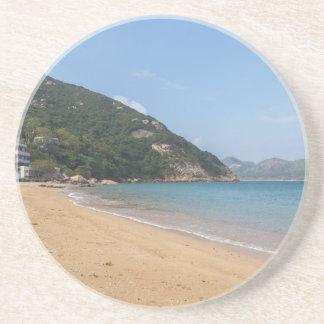 Posavasos De Arenisca Vista panorámica de la isla pálida de Sok Kwu