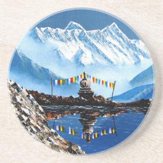 Posavasos De Arenisca Vista panorámica de la montaña Nepal de Annapurna