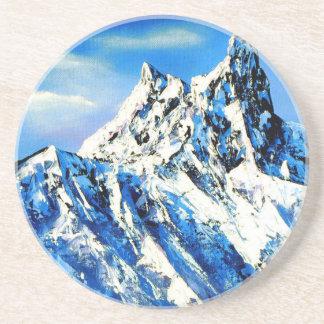 Posavasos De Arenisca Vista panorámica del pico de montaña de Everest