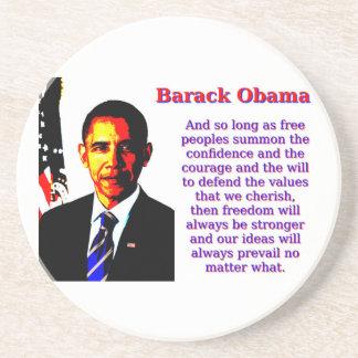 Posavasos De Arenisca Y siempre y cuando gente libre - Barack Obama