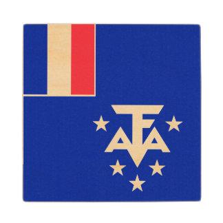 Posavasos De Madera Bandera meridional y antártica francesa de las