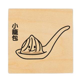 Posavasos De Madera Bollo chino de Dim Sum de la bola de masa hervida