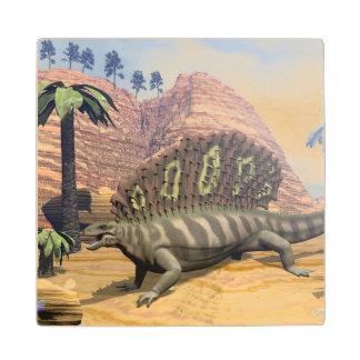Posavasos De Madera Dinosaurio del Edaphosaurus - 3D rinden