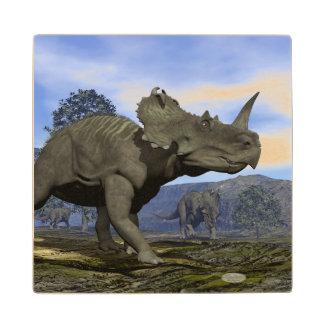 Posavasos De Madera Dinosaurios del Centrosaurus - 3D rinden
