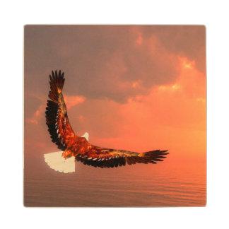 Posavasos De Madera Eagle que vuela - 3D rinden