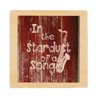 Posavasos De Madera En el Stardust de una canción - Madera-efecto
