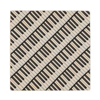 Posavasos De Madera Llaves negras y blancas del piano