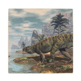 Posavasos De Madera Los dinosaurios -3D de Batrachotomus rinden