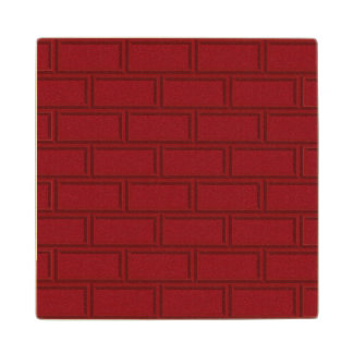 Posavasos De Madera Modelo rojo fresco de la pared de ladrillos del