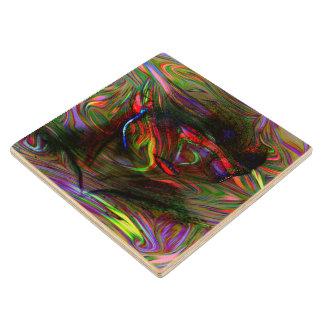 Posavasos De Madera Mujer abstracta dos