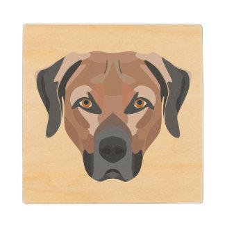 Posavasos De Madera Perro Brown Labrador del ilustracion