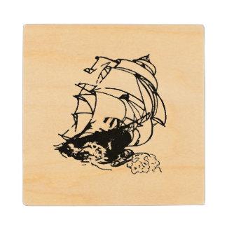 Posavasos De Madera Práctico de costa de madera gráfico de la