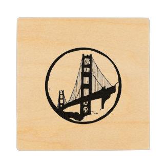 Posavasos De Madera Prácticos de costa de San Francisco de puente