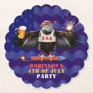 Posavasos De Papel 4to de la cerveza y de los fuegos artificiales