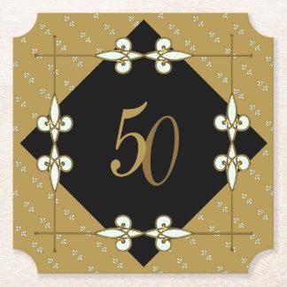 Posavasos De Papel 50.o art déco del vintage del boda/del cumpleaños