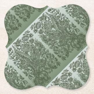 Posavasos De Papel adorna verde de musgo