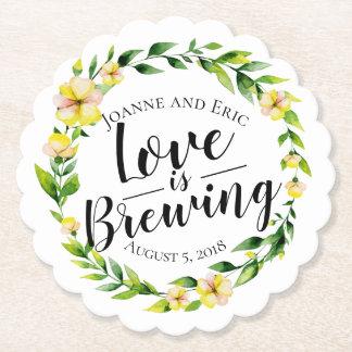 Posavasos De Papel el amor está elaborando cerveza el práctico de