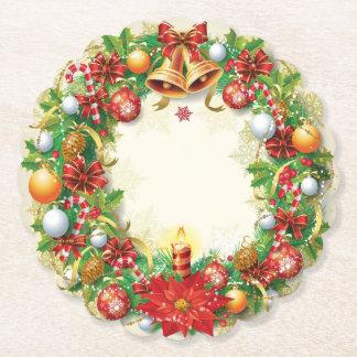 Posavasos De Papel Guirnalda del navidad horneada a la crema y con