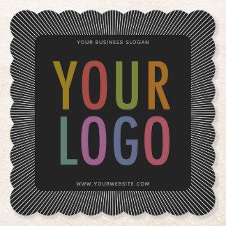 Posavasos De Papel Logotipo de Edge Paper Coasters Company de Square