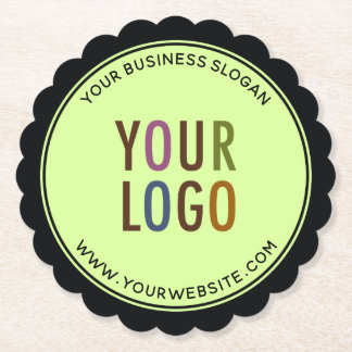Posavasos De Papel Logotipo de Edge Paper Coasters Company Round