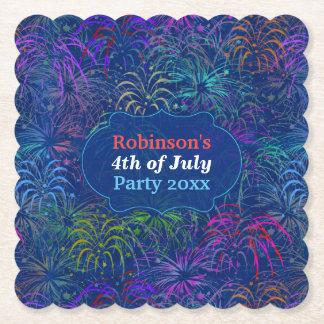 Posavasos De Papel Los fuegos artificiales 4tos del fiesta de julio