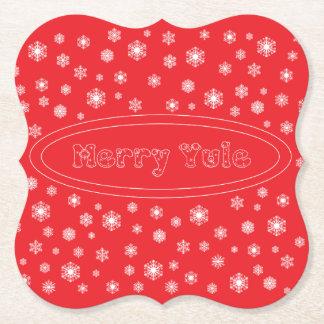 Posavasos De Papel Merry Yule Coasters