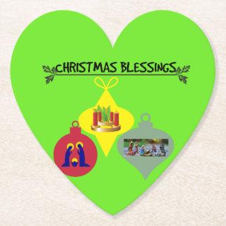 Posavasos De Papel Navidad que bendice