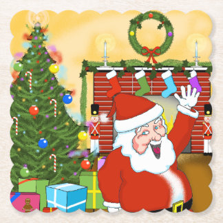 Posavasos De Papel Nochebuena con los prácticos de costa del navidad