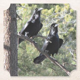 Posavasos De Papel Pares del cuervo en la montaña